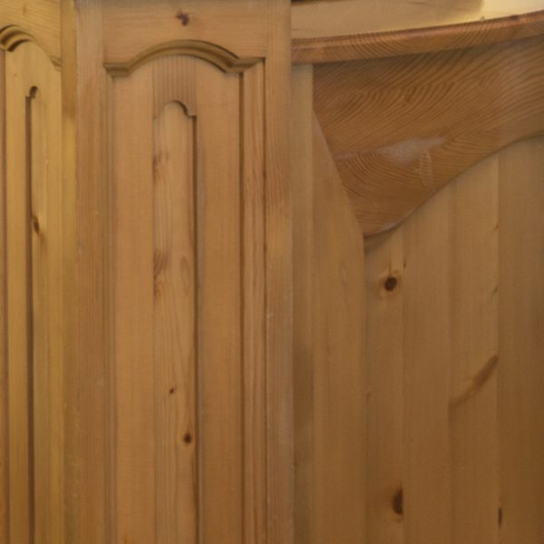 Wood panelling close up