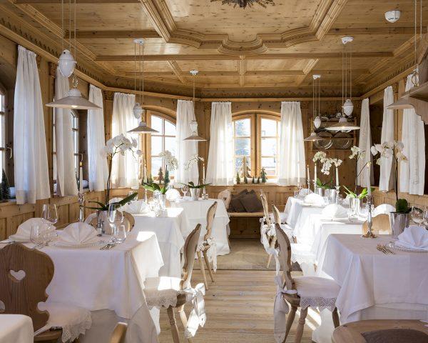 Hotel Mayr Speisesaal und Stube