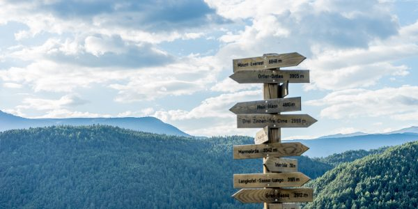 Seiser Alm Berge Gipfel Schilder